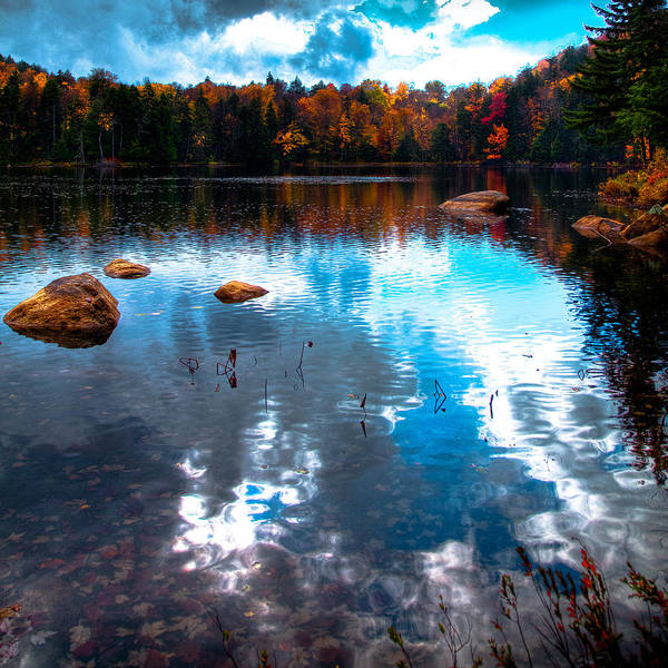 Adirondack's Poster featuring the photograph Autumn On Cary Lake by David Patterson