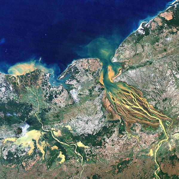 Betsiboka Estuary Poster featuring the photograph Betsiboka Estuary, Madagascar by Planetobserver