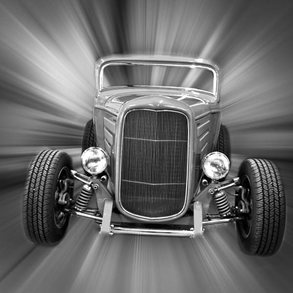 1932 Ford Poster featuring the photograph Black And White 32 Ford by Steve McKinzie