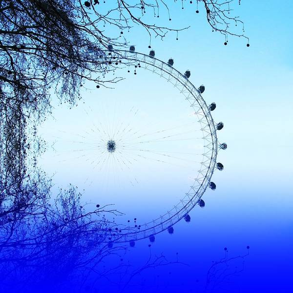 London Eye Poster featuring the photograph Blue Eye by Sharon Lisa Clarke