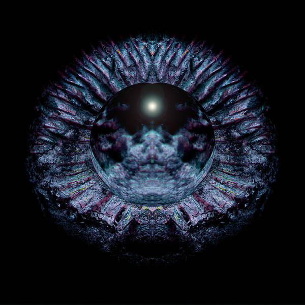 Psychedelic Poster featuring the photograph Blue Eye Sphere by David Kleinsasser