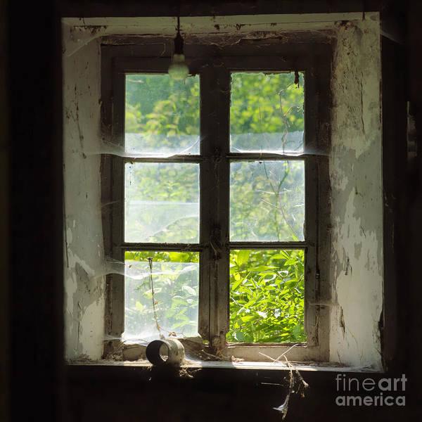 Windows Poster featuring the photograph Broken Window. by Bernard Jaubert