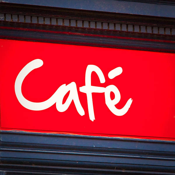 Breakfast Poster featuring the photograph Cafe Sign by Tom Gowanlock