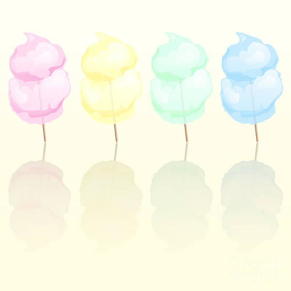 Amusement Poster featuring the digital art Candy Floss by Jane Rix