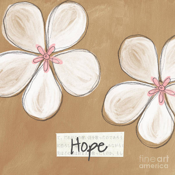 cherry Blossoms Poster featuring the painting Cherry Blossom Hope by Linda Woods