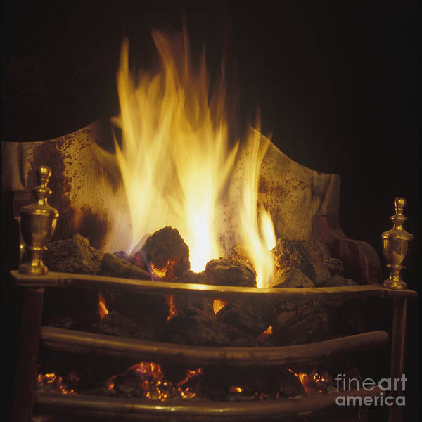 Coal Fire In An English Fireplace Poster By Will Deni Mcintyre