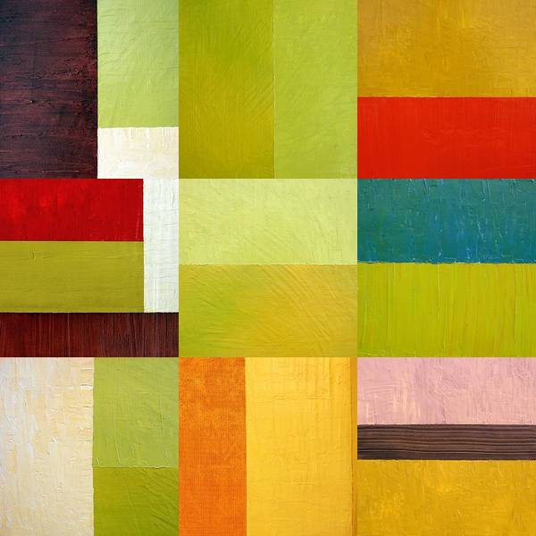 Abstract Poster featuring the painting Color Study Abstract 9.0 by Michelle Calkins