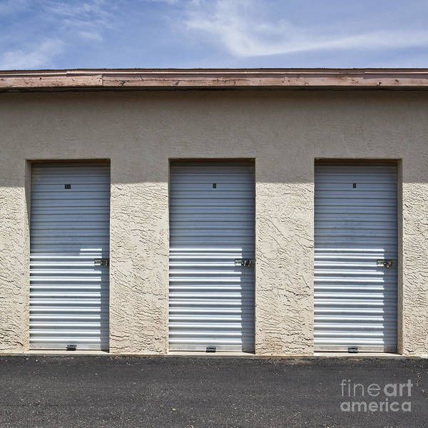 Architectural Detail Poster featuring the photograph Commercial Storage Facility by Paul Edmondson