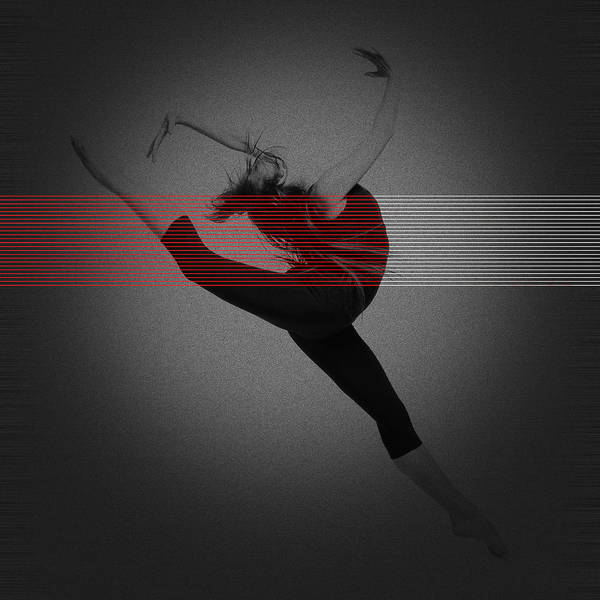Dancing Poster featuring the photograph Dancer by Naxart Studio