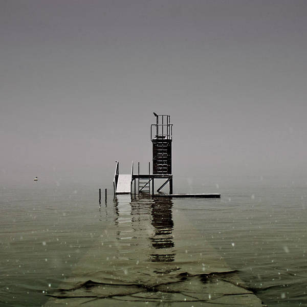 Snow Poster featuring the photograph Diving Platform by Joana Kruse