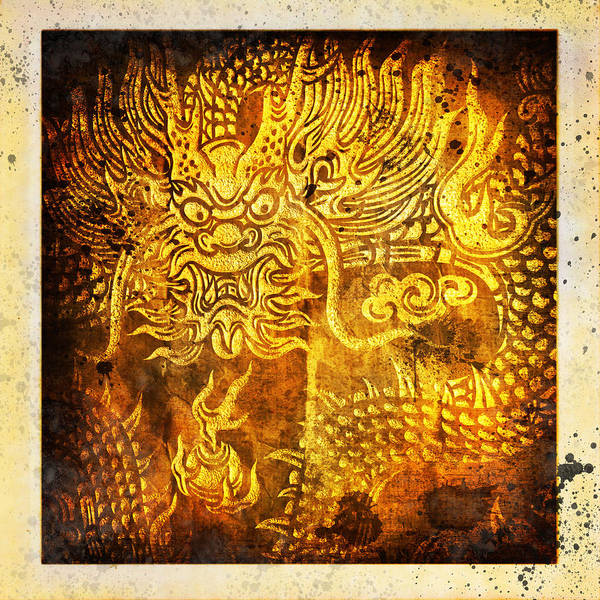 Abstract Poster featuring the painting Dragon Painting On Old Paper by Setsiri Silapasuwanchai