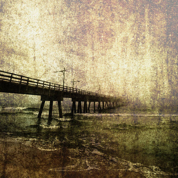 Absence Poster featuring the photograph Early Morning Pier by Skip Nall