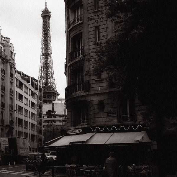 Eiffel Poster featuring the photograph Eiffel Tower Black And White 2 by Andrew Fare