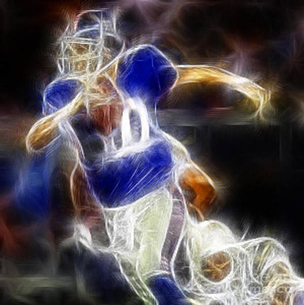 Eli Manning Poster featuring the digital art Eli Manning Quarterback by Paul Ward