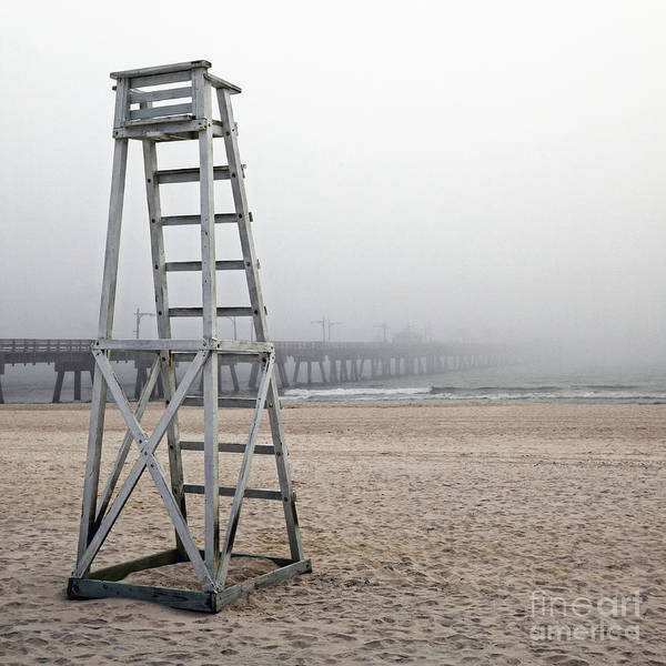 Beach Poster featuring the photograph Empty Lifeguard Chair by Skip Nall