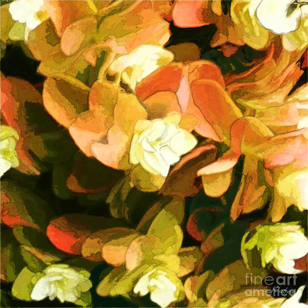 Small White Flowers Poster featuring the digital art Floral Print by David Klaboe