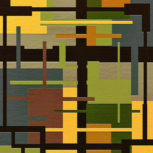 Abstract Art Poster featuring the painting Fortune by Ely Arsha