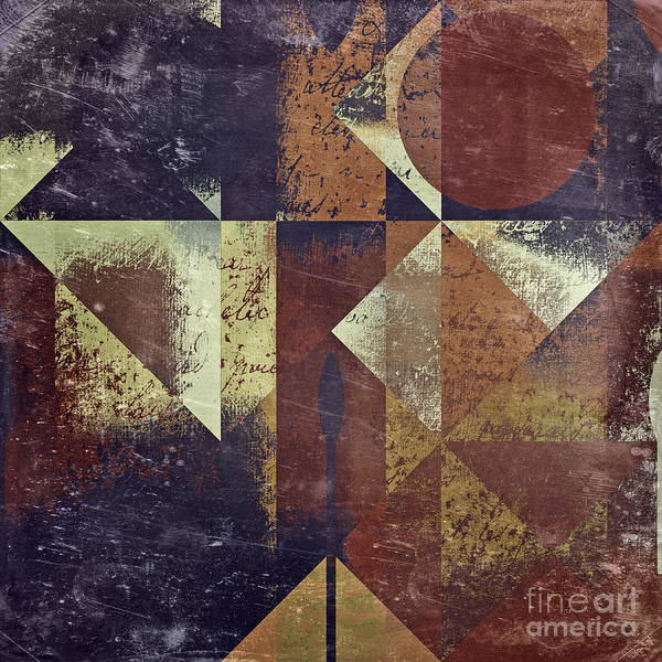 abstract Art Poster featuring the digital art Geomix 04 - 6ac8bv2t7c by Variance Collections