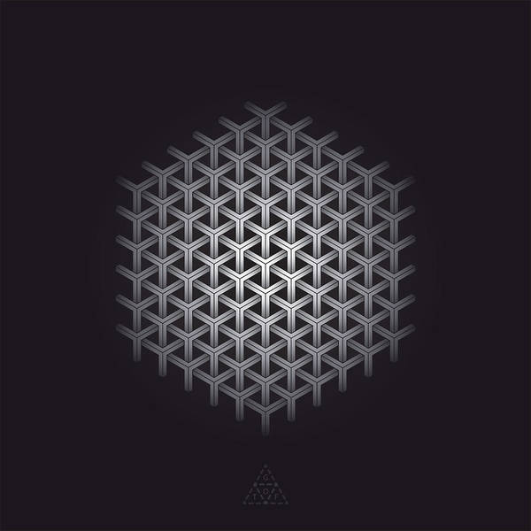 Hexagon Poster featuring the digital art Hexagon Matrix Optic V16.1 by Guardians of the Future