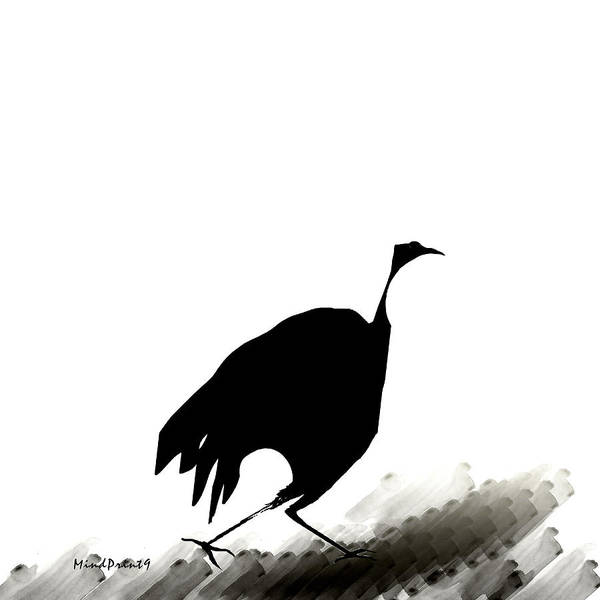 Scavenger Poster featuring the digital art Hunter Bird by Asok Mukhopadhyay