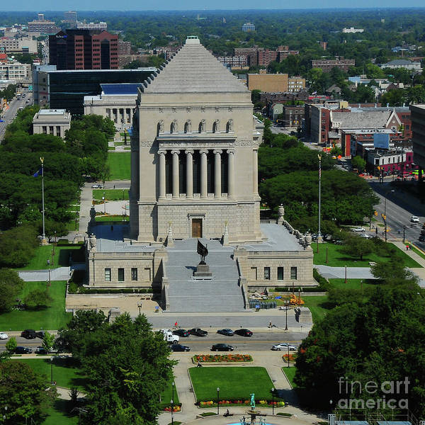 War Memorial Poster featuring the photograph Indiana World And War Memorial by Rob Banayote