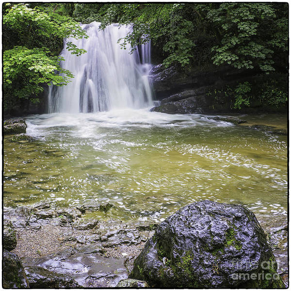 Landscape Poster featuring the photograph Janet's Foss Yorkshire Dales Uk by George Hodlin