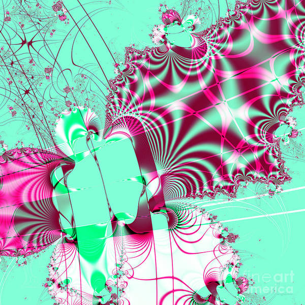 Fractal Poster featuring the digital art Kabuki . Square by Wingsdomain Art and Photography