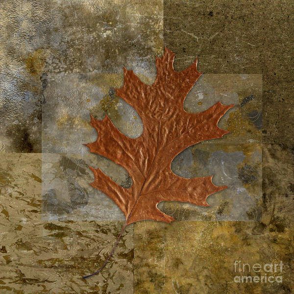 Poster featuring the digital art Leaf Life 01 -brown 01b2 by Variance Collections