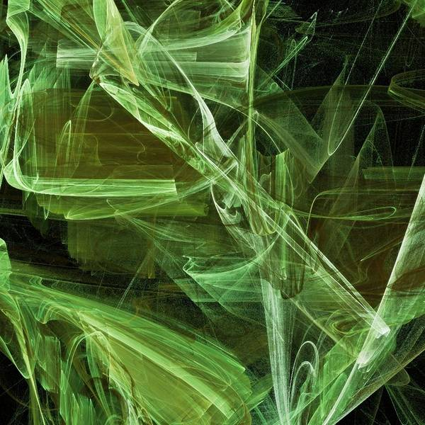 Abstract Poster featuring the digital art Lime by Sharon Lisa Clarke