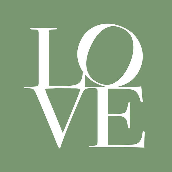 Love Poster featuring the digital art Love In Green by Michael Tompsett