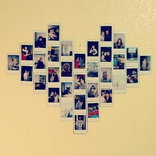 Made A Heart Collage On My Wall From My Poster by Allison Faulkner