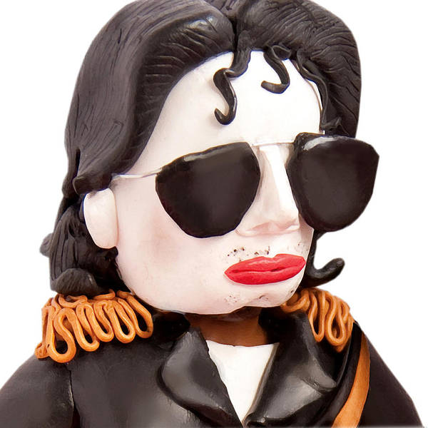 Michael Jackson Poster featuring the sculpture Michael Jackson by Louisa Houchen
