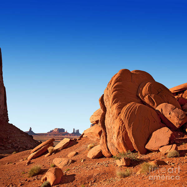 Desert Poster featuring the photograph Monument Valley Rocks by Jane Rix