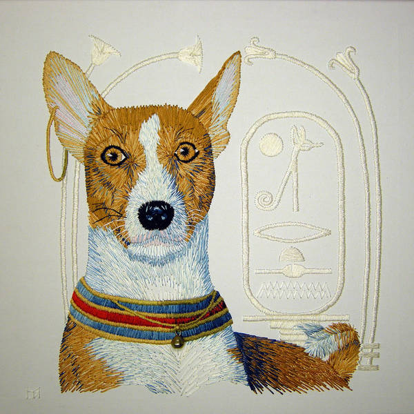 Basenji Poster featuring the tapestry - textile My Friend Jazz by Barbara Lugge