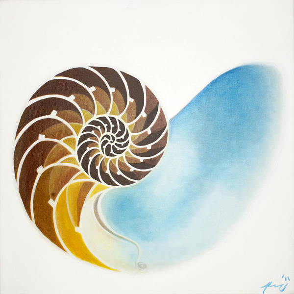 Nautilus Poster featuring the painting Nautilus by Kraichely Michael