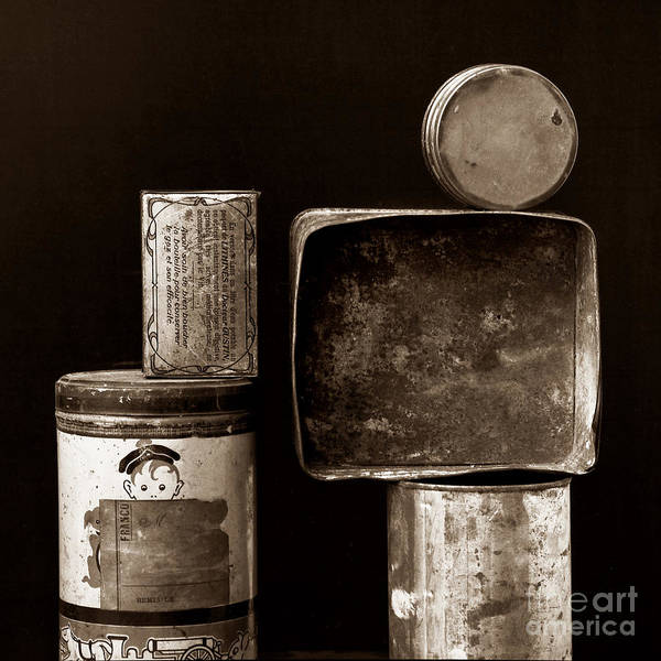 White Poster featuring the photograph Old Fashioned Iron Boxes. by Bernard Jaubert