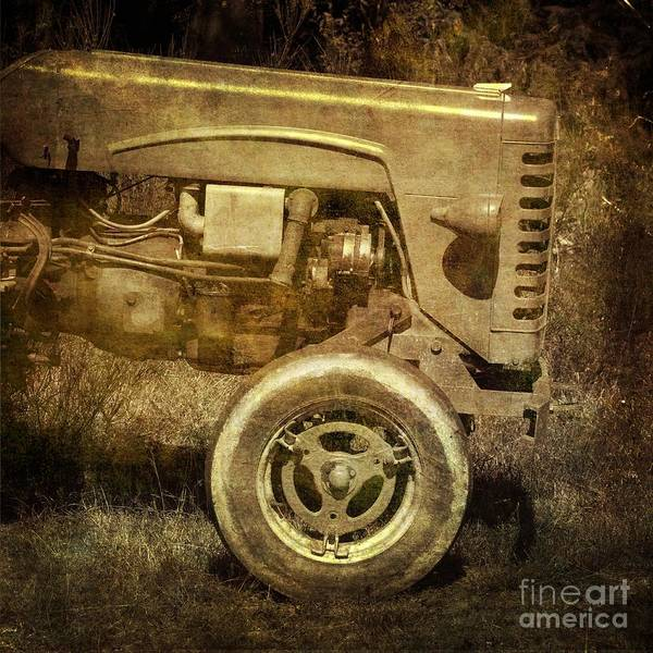 Abandoned Poster featuring the photograph Old Tractor by Bernard Jaubert