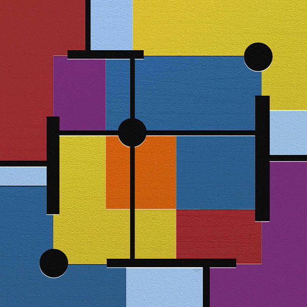 Abstract Art Poster featuring the painting Oracle by Ely Arsha