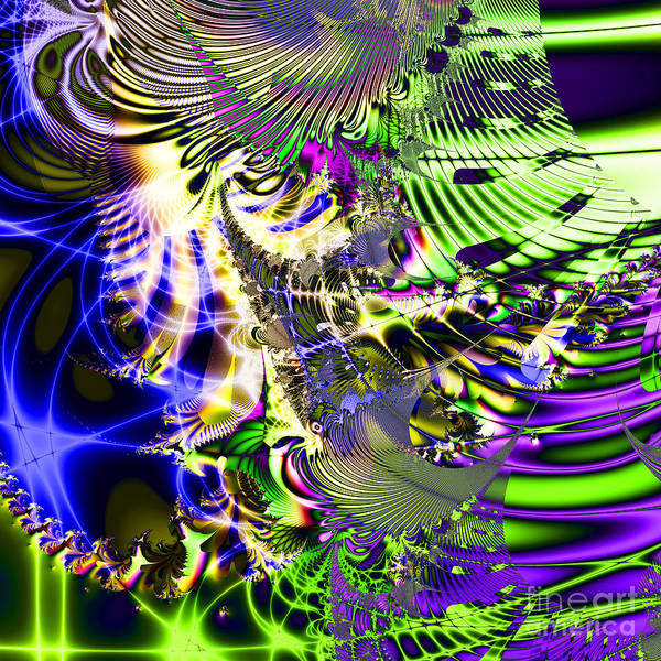 Fractal Poster featuring the digital art Phantasm . Square by Wingsdomain Art and Photography