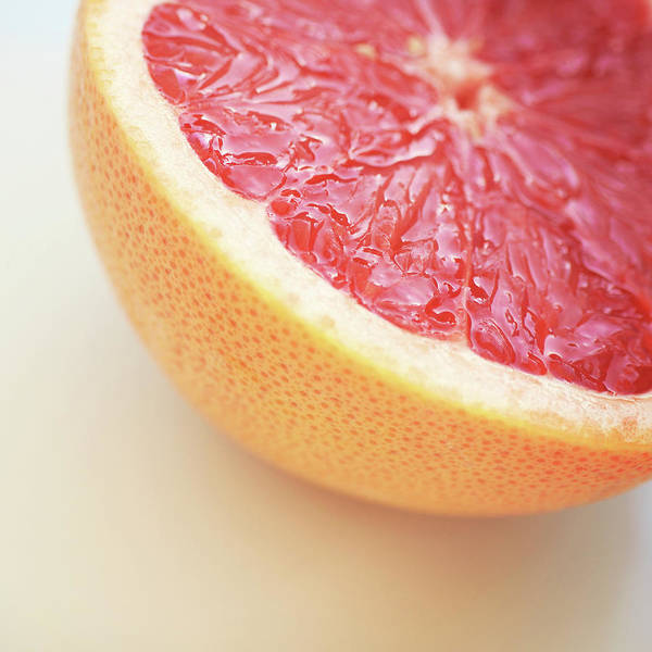 Square Poster featuring the photograph Pink Grapefruit by Dhmig Photography