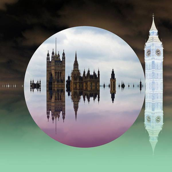 London Poster featuring the digital art Political Bubble by Sharon Lisa Clarke