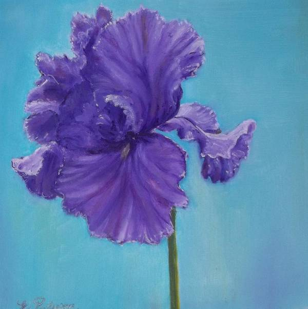 Flower Poster featuring the painting Purple by Eydie Paterson