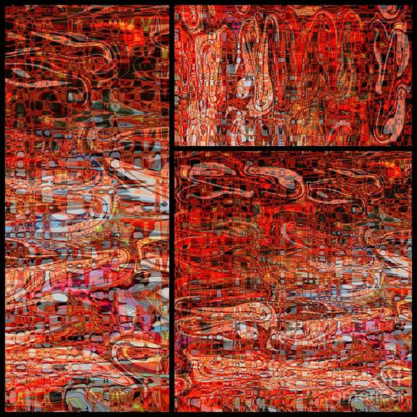 Red Poster featuring the photograph Red Splashes Swishes And Swirls - Abstract Art by Carol Groenen