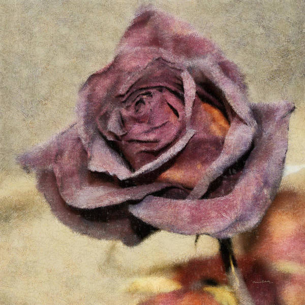 Rose Poster featuring the digital art Remembrance by Ernie Echols