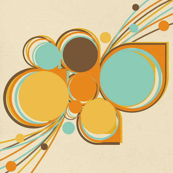 Art Poster featuring the digital art Retro Pattern by Setsiri Silapasuwanchai