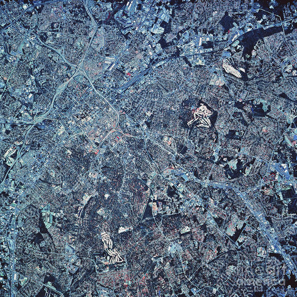 Color Image Poster featuring the photograph Satellite View Of Charlotte, North by Stocktrek Images