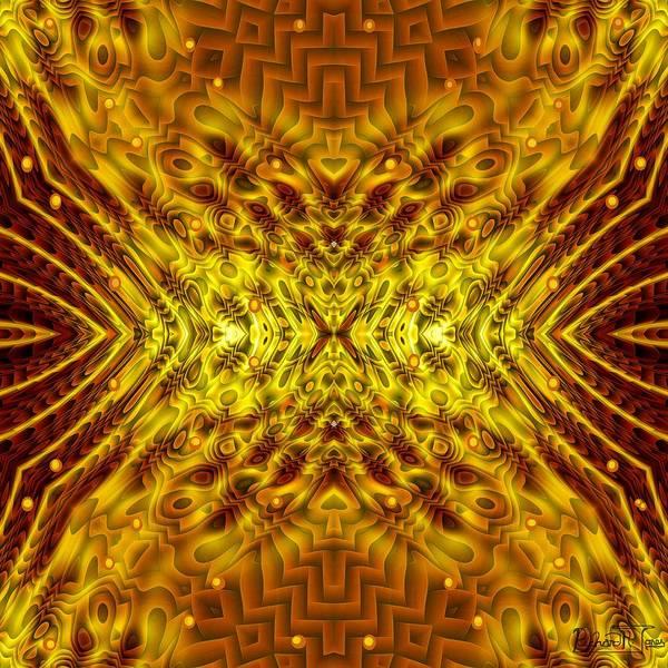 Golden Mandala Design In Unusual Contours Poster featuring the digital art Seeding Mandala by Richard Jones