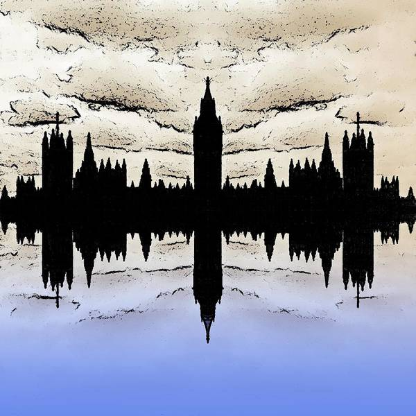 London Poster featuring the digital art Shadow Goverment by Sharon Lisa Clarke