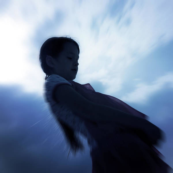Girl Poster featuring the photograph Silhouette Of A Girl Against The Sky by Joana Kruse