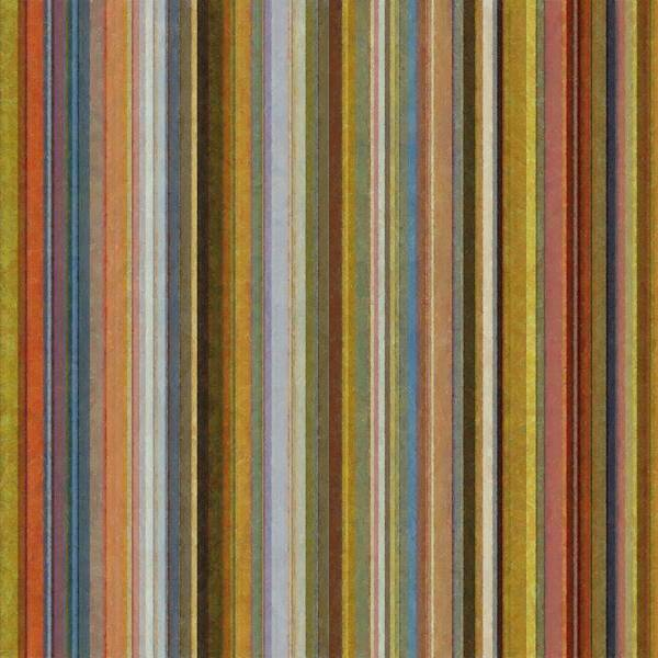 Textured Poster featuring the digital art Soft Stripes Ll by Michelle Calkins